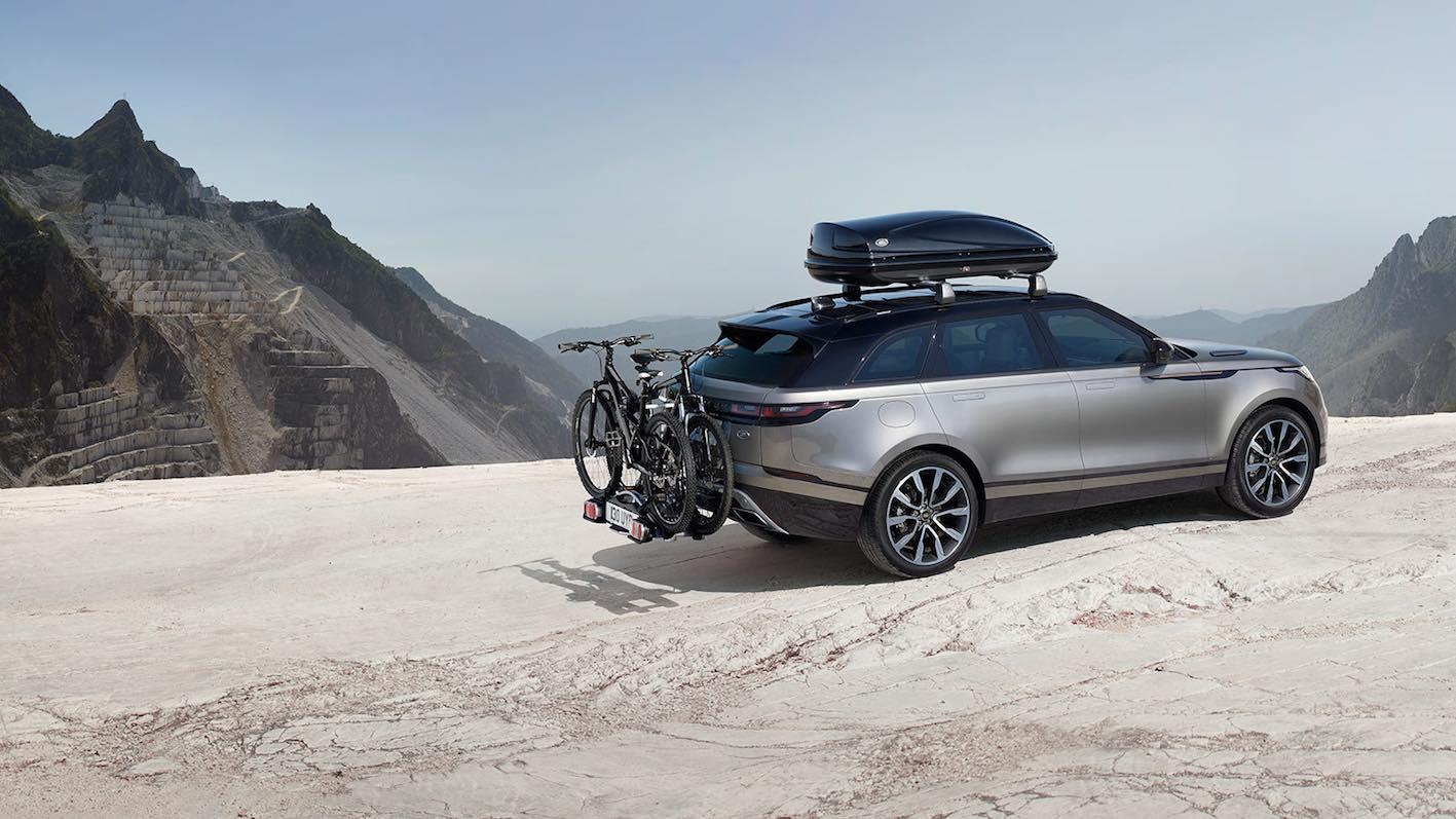 Range Rover Velar mit Fahrradträger