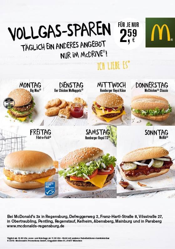 Vollgas Sparen McDonald Regensburg