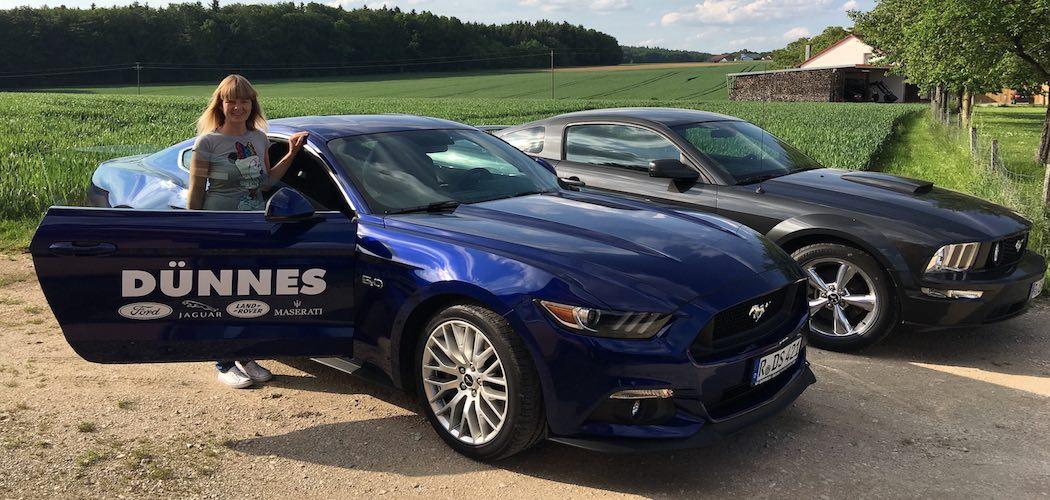 Lydia Pöhl Ford Mustang Probefahrt