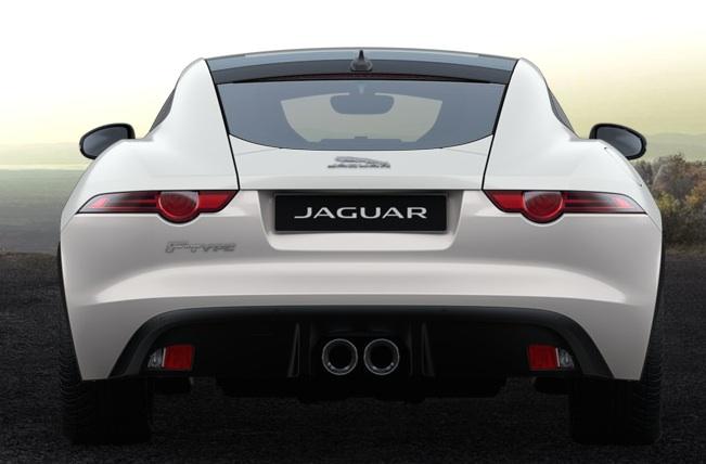 F Type weiß Coupe hinten kauf