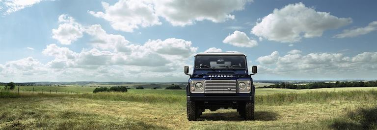 Land Rover Defener 2014 blau