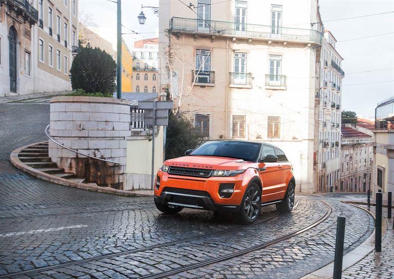 Range Rover Evoque orange vorne
