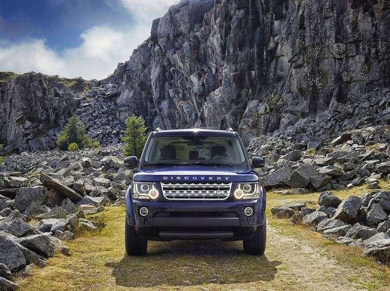 Range Rover blau vorne