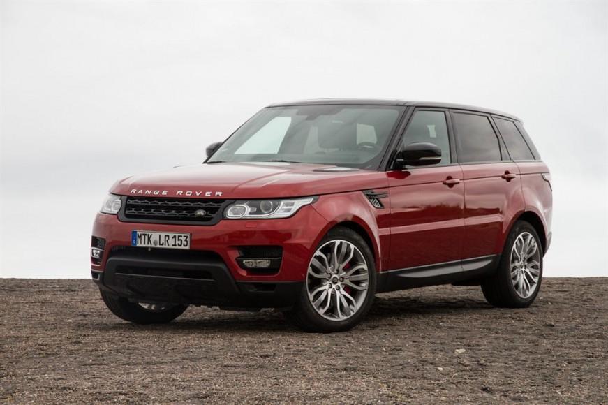 Range Rover rot vorne stehend
