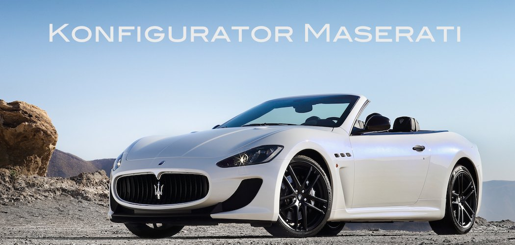 maserati konfigurator f r alle modelle mit bestellm glichkeit. Black Bedroom Furniture Sets. Home Design Ideas