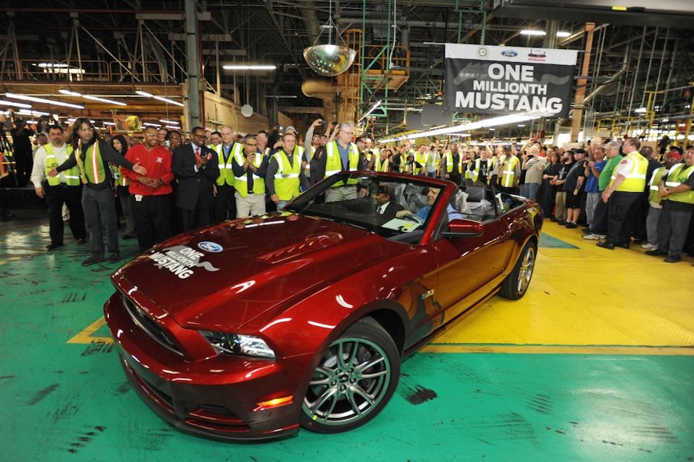 Ford Mustang one Millionth Mustang