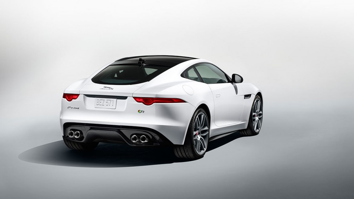 Jaguar F Type Coupe Glasdach weiss