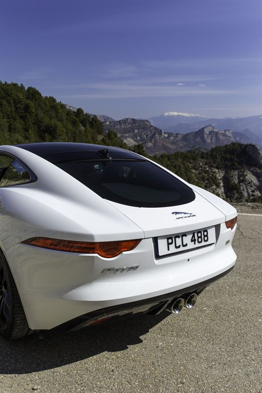 Jaguar F Type Coupe Polaris White hinten