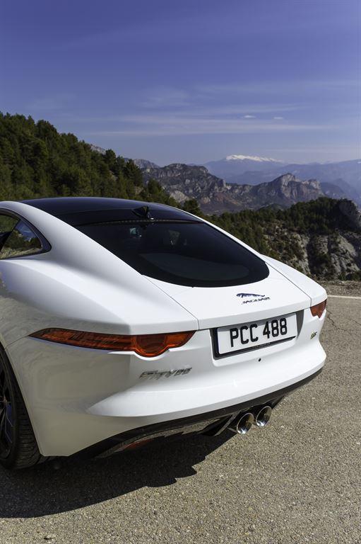 Jaguar F Type Coupe Polaris White hinten