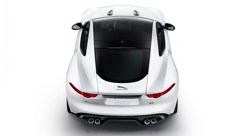 Jaguar F Type Coupe hinten weiss