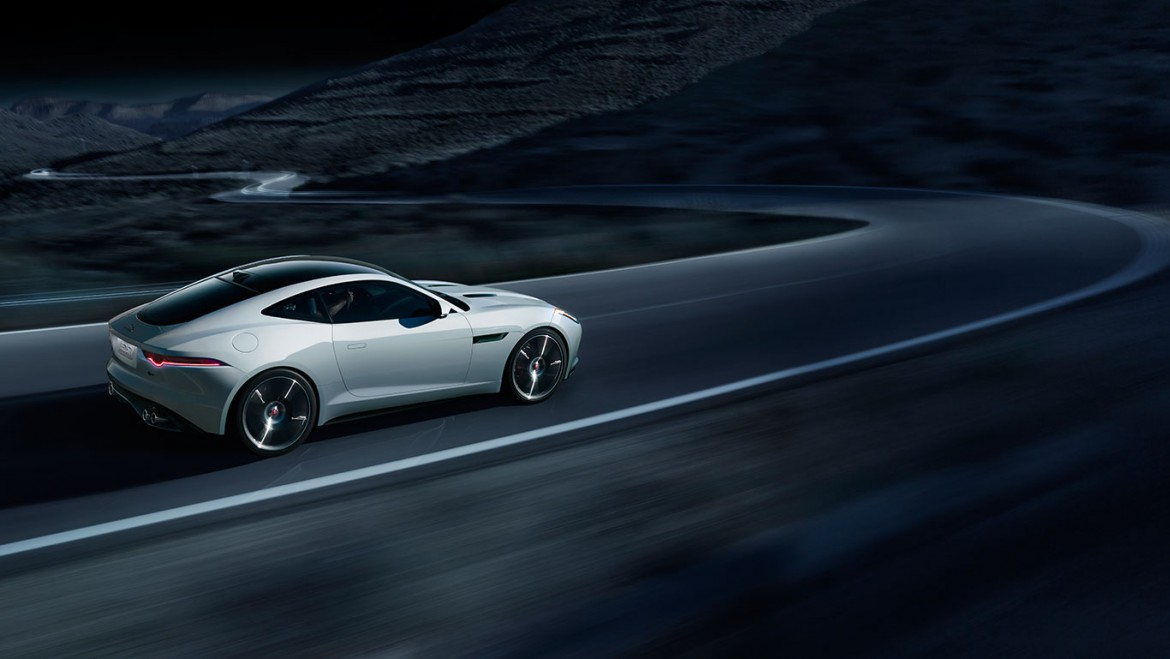 Jaguar F Type Coupe seite weiss