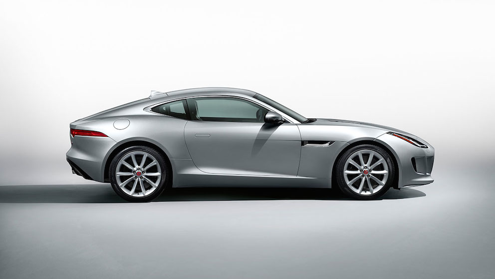 Jaguar F Type Coupe silber Seite