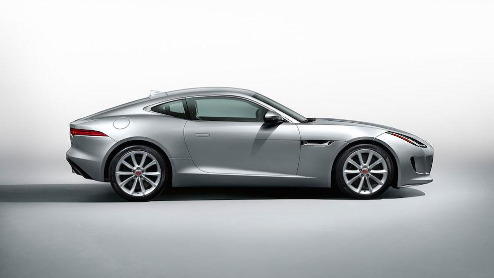 Jaguar F Type Coupe silber Seite