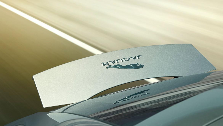 Jaguar F Type Coupe silber Spoiler