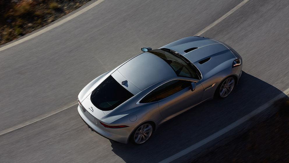 Jaguar F Type Coupe silber oben