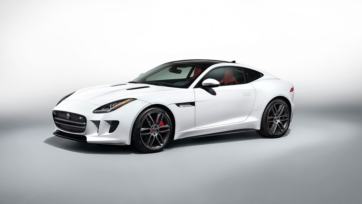 Jaguar F Type Coupe weiss Seite