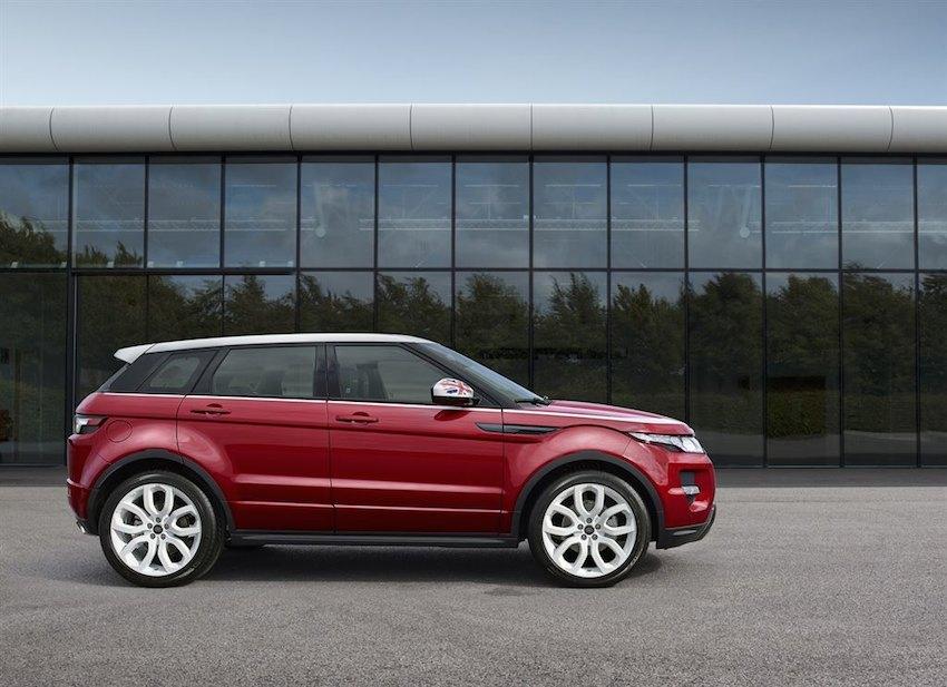 Range Rover Evoque Union Jack Seite