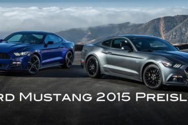 Ford Mustang 2015 Preisliste Deutschland