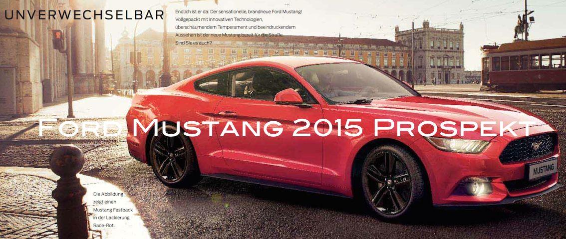 Ford Mustang 2015 Prospekt Deutschland