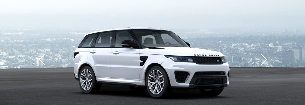 Range Rover Sport SVR weiss