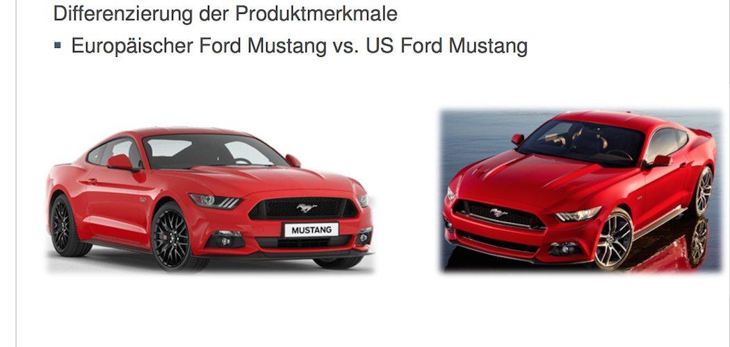 Ford Mustang 2015 Unterschiede