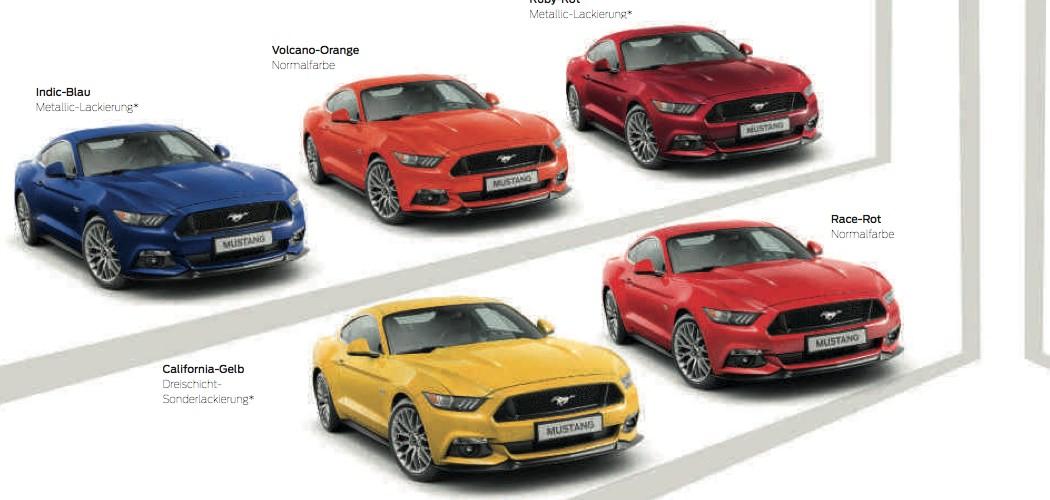 Ford Mustang 2015 Katalog