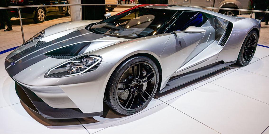 Ford Gt  Silber Grau Vorne Seitlich
