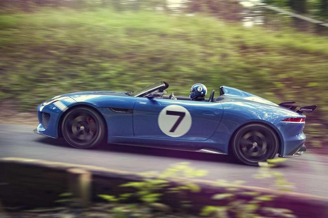 Jaguar F-Type Project 7 blau