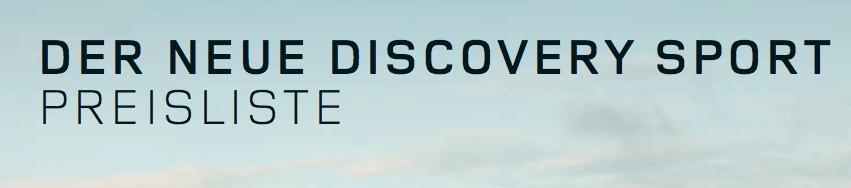 preise preisliste des land rover discovery sport. Black Bedroom Furniture Sets. Home Design Ideas