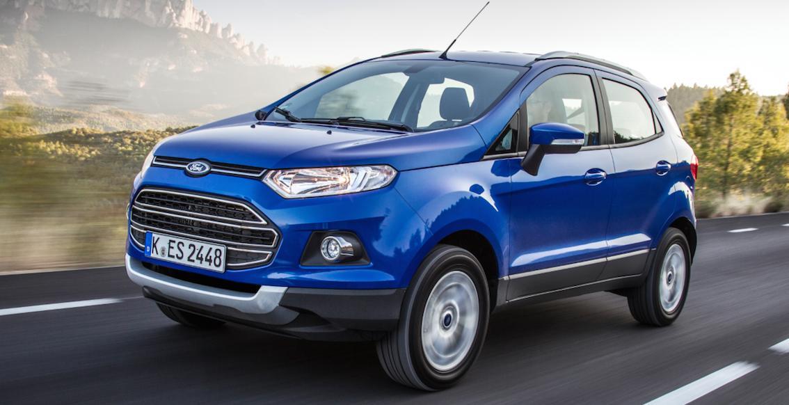 Ford Ecosport blau seitlich 2016