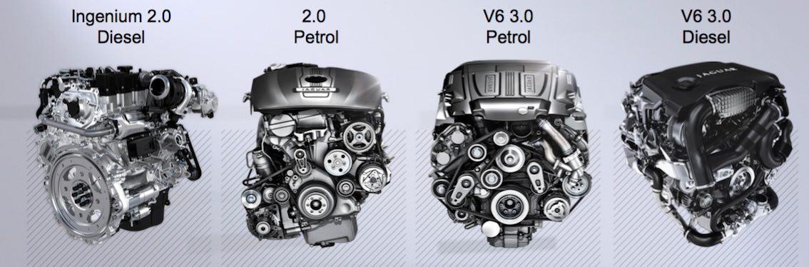 Jaguar XF 2016 Motoren