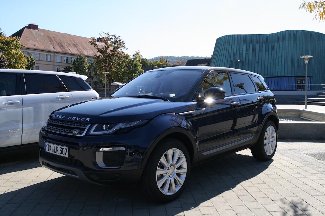 Range Rover Evoque 2016 blau seitlich