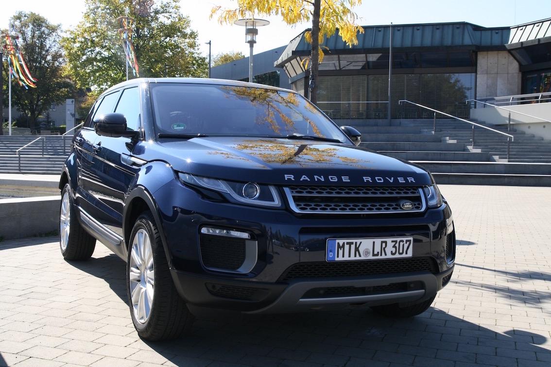 Range Rover Evoque 2016 blau vorne