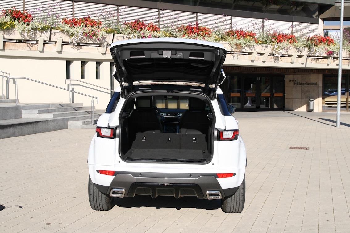 Range Rover Evoque 2016 weiss Kofferraum hinten