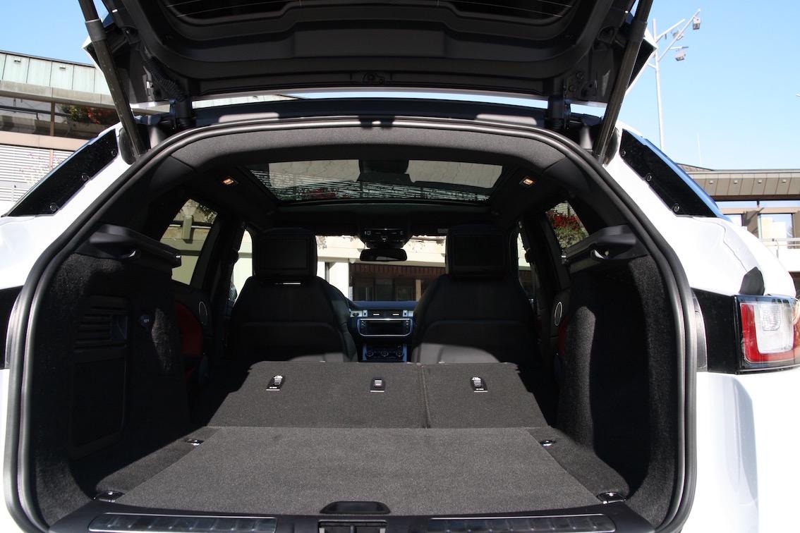 Range Rover Evoque 2016 weiss Kofferraum