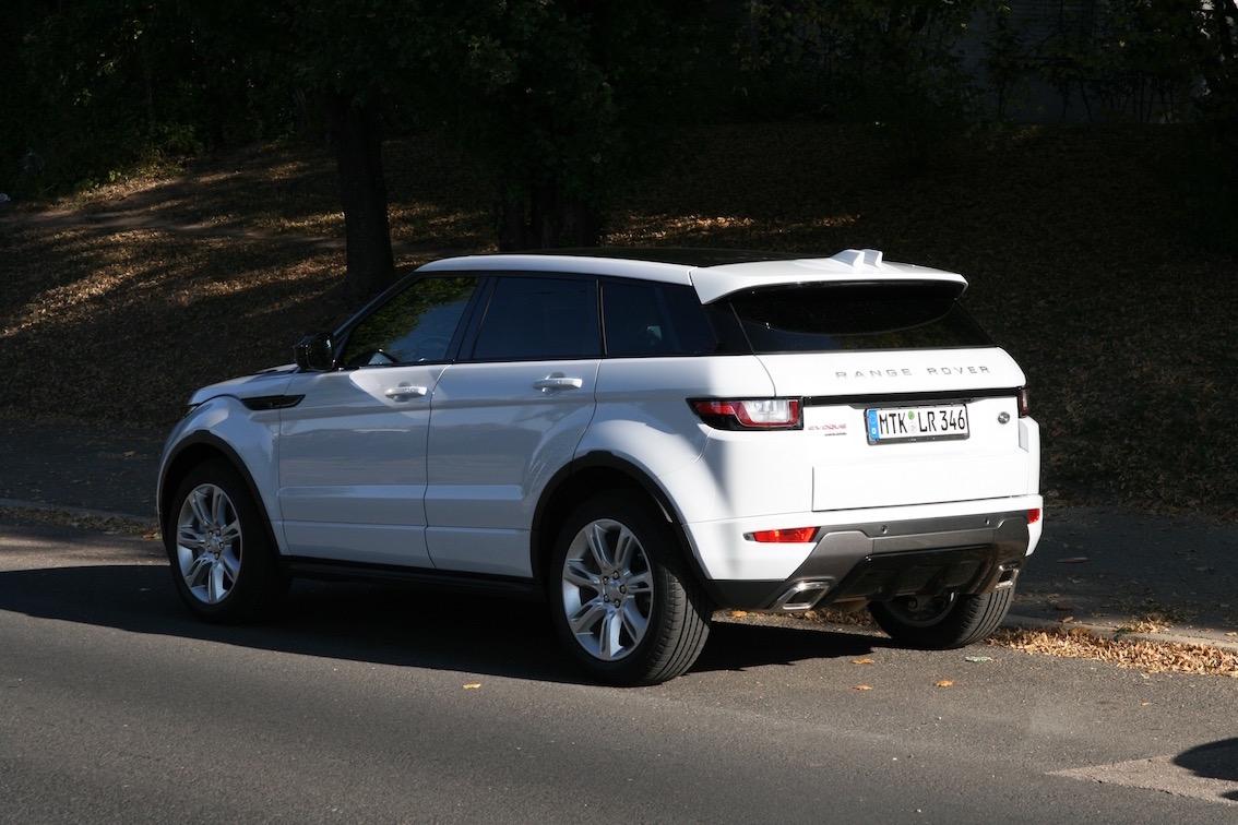 Range Rover Evoque 2016 weiss Stadt Stuttgart
