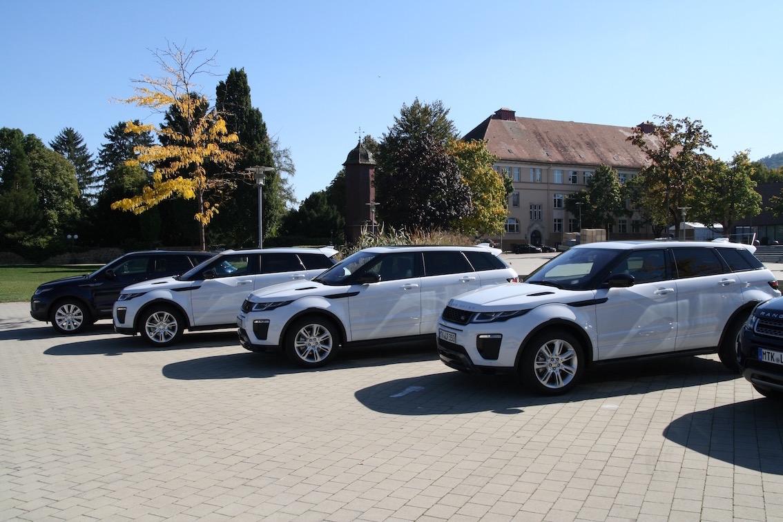 Range Rover Evoque 2016 weiss seite
