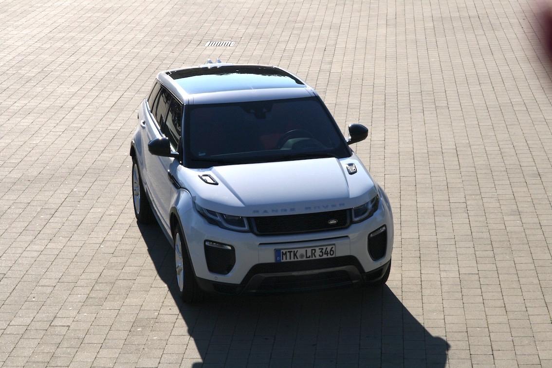 Range Rover Evoque 2016 weiss vorne von oben