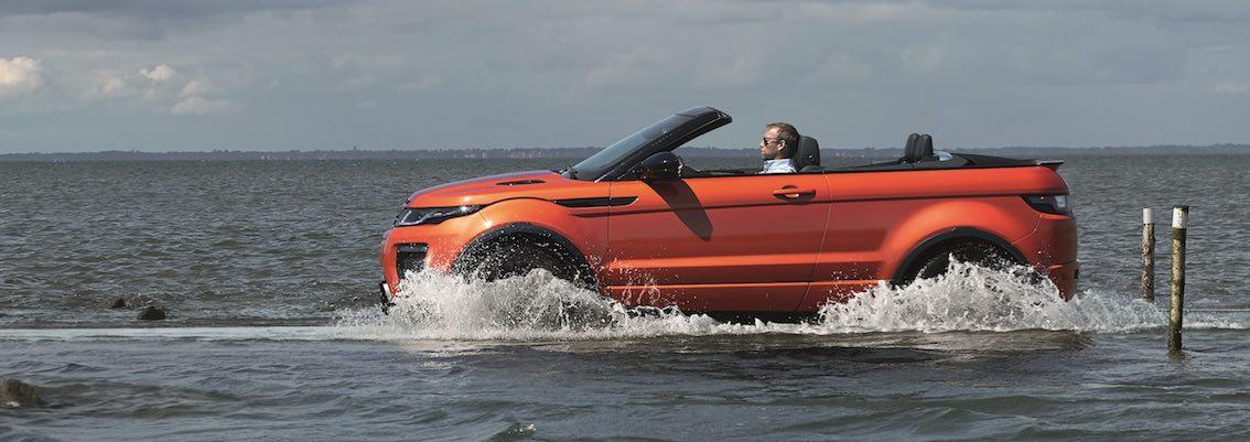 Range Rover Evoque Cabrio Wasser