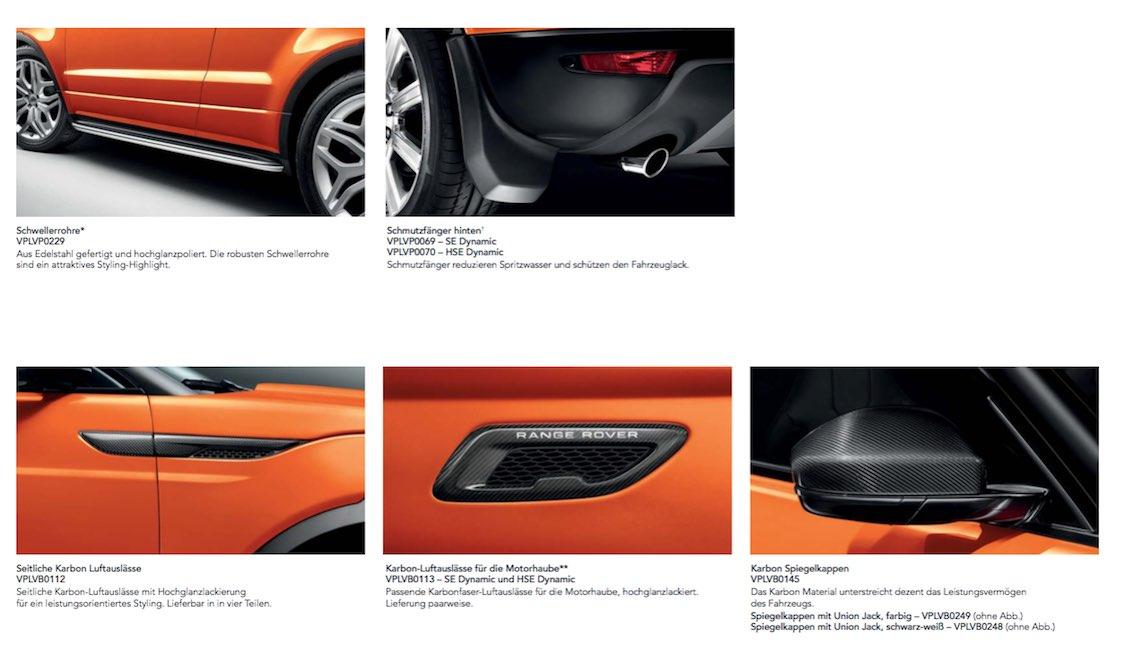 Range Rover Evoque Prospekt