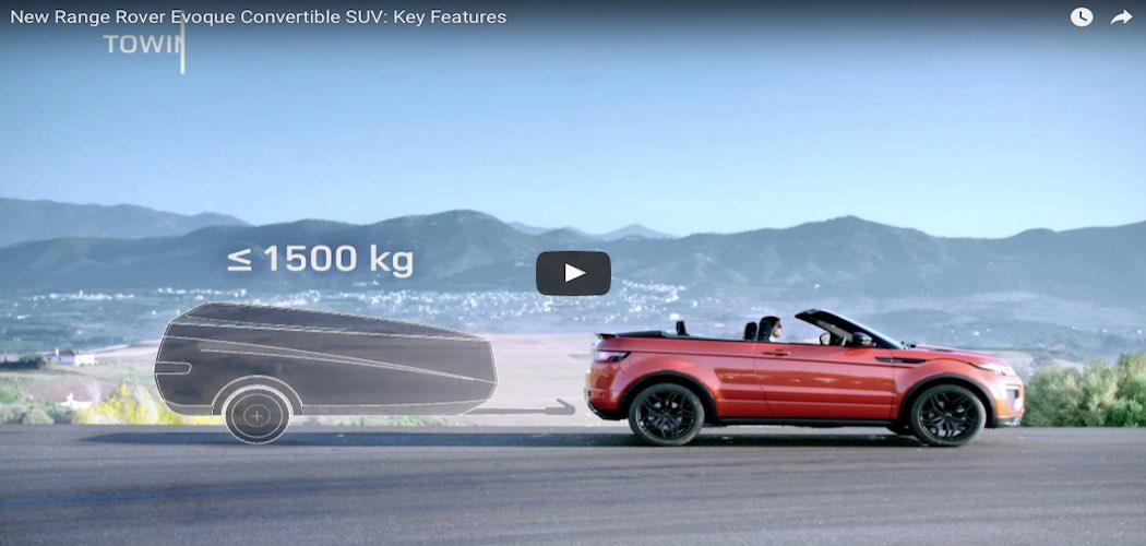 video des neuen range rover evoque cabrio 2016. Black Bedroom Furniture Sets. Home Design Ideas
