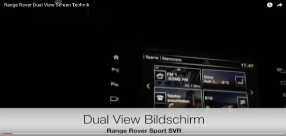 Dual View Split Screen Range Rover