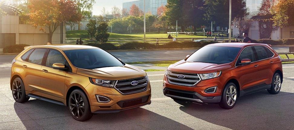 Ford Edge Test gelb und rot 2016