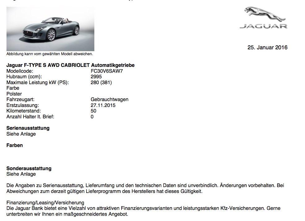 Jaguar F-Type Cabrio Angebot 3