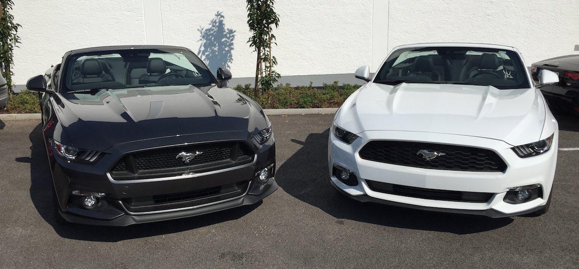Ford Mustang Cabrio weiß und schwarz