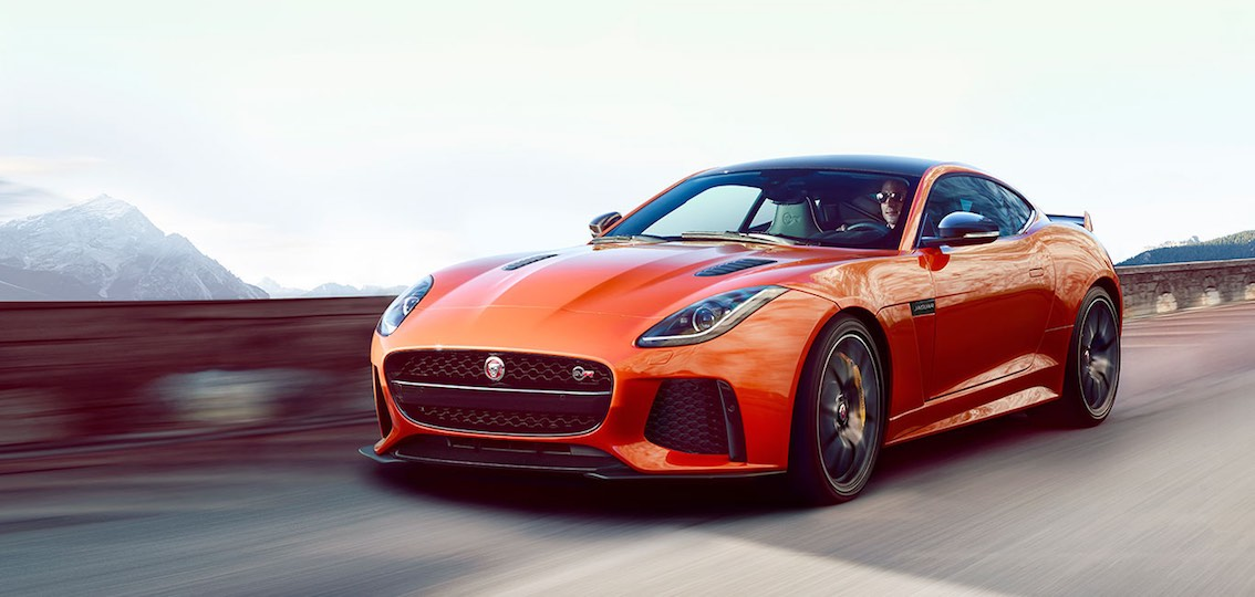 Jaguar F-Type SVR 2017 orange