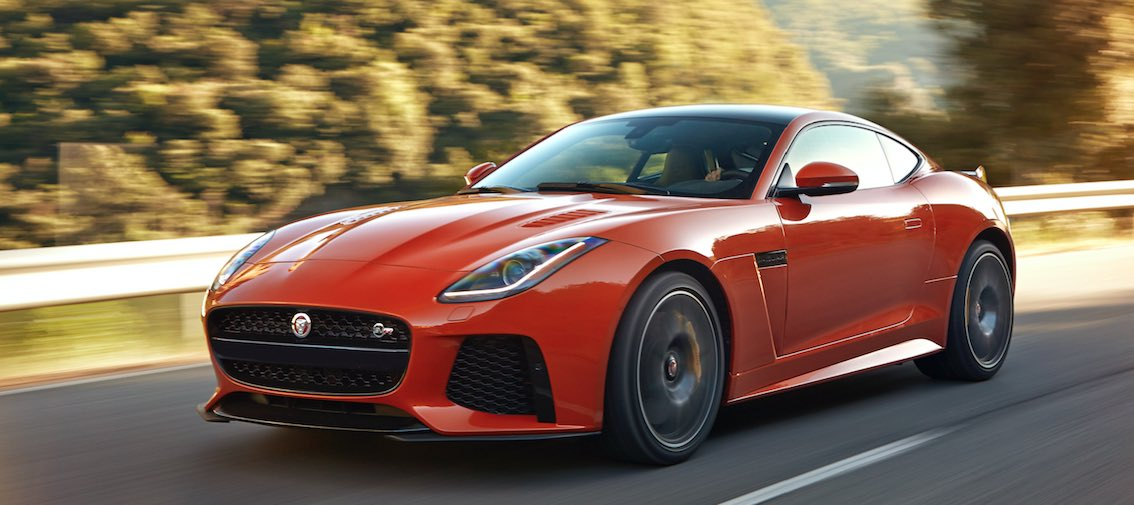 Jaguar F-Type SVR Coupe orange