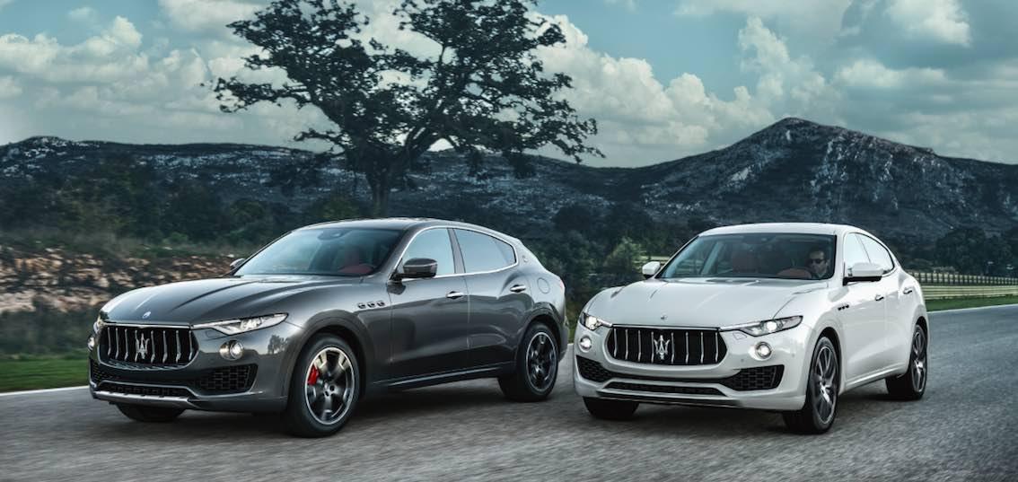 Maserati levante grau und weiss