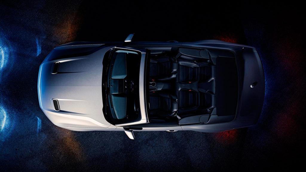 Ford Mustang 2018 Cabrio von oben