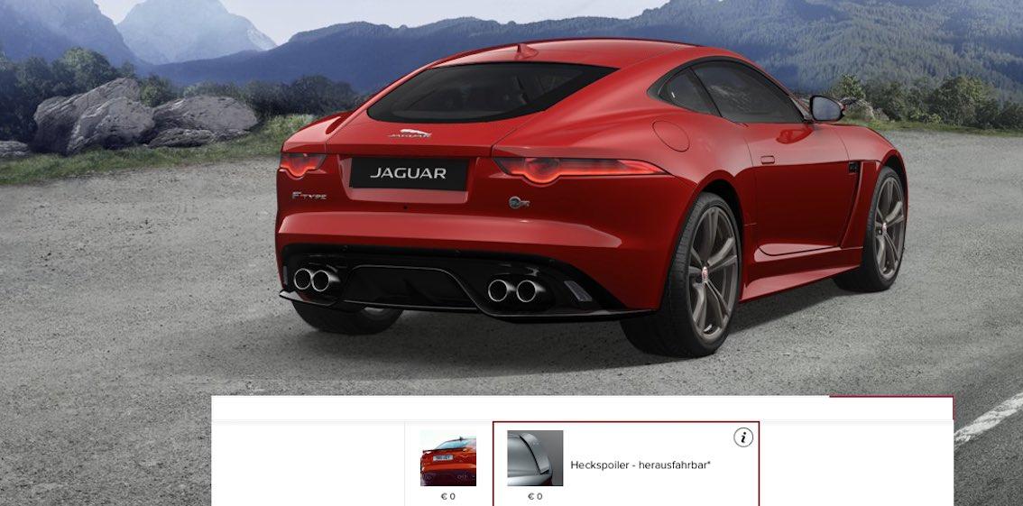 Heckspoiler Jaguar F-Type SVR